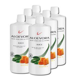 ALOEVORA Juice -honey- SIX PACK 90% Aloe Vera