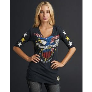 Affliction Damen T-Shirt  - Americana - AW5332